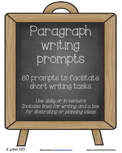 Paragraph writing prompts image