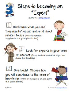 Steps to expert